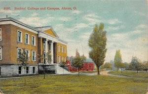 LP91  Akron Ohio Buchtel College and Campus          Postcard