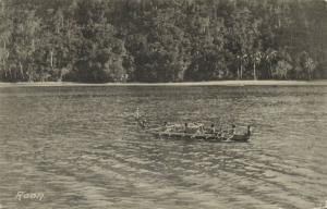 dutch new guinea, ROON, Native Papuan Boat, Papua (1910s)