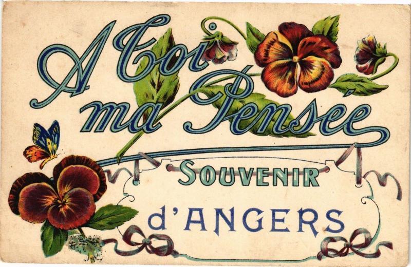 CPA A Coi ma Pensée Souvenir d'ANGERS (189821)