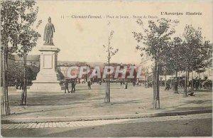 Old Postcard Clermont Ferrand Jaude square Statue of Desaix