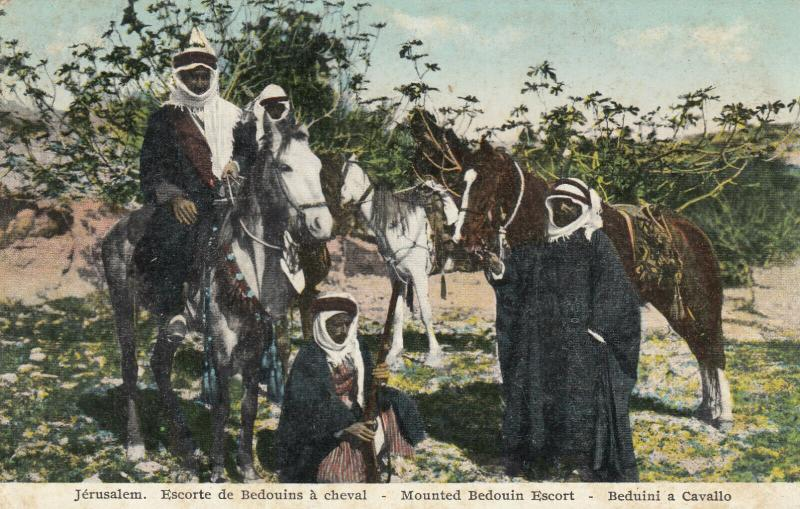 JERUSALEM , 00-10s ; Mounted Bedouin Escort