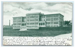 Postcard State Normal School, Providence, RI 1906 or 1908 H17