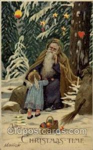 Purple Robe, Hold To Light Santa Claus, Chirstmas, Postcard Postcards  Hold t...