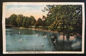 498 not circulated on 1917 Nashville park photo, Vic's Stamp Stash/Postcards