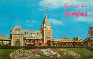 Greetings From Disneyland postcard Disney 1966 Amusement Park