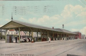 OLD ORCHARD,  Maine, 1910 ; Railroad Station