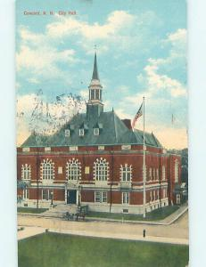 Divided Back CITY HALL SCENE Concord New Hampshire NH hs6313