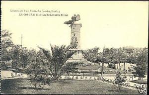 spain, LA CORUNA, Estatua de Linares Rivas (ca. 1910)