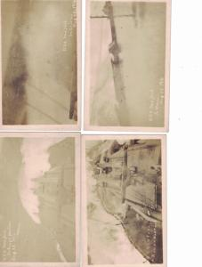 U.S.S. New York. , August 22 , 1916 at sea rough weather, 8 different RPC's