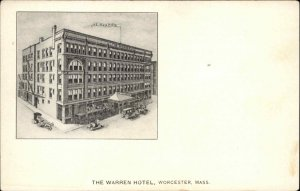 Worcester MA Warren Hotel c1905 Postcard