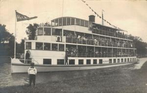 Netherlands Alkmaar Packet, NV Boot 1913 REAL PHOTO 01.63