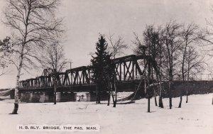 RP; THE PAS , Manitoba, Canada , 40-50s ; H. B. Rly. Bridge