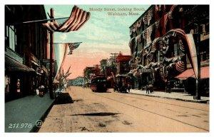 Massachusetts   Waltham . Moody street looking South , Trolley