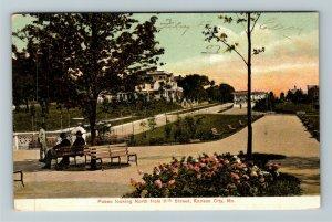Kansas City MO-Missouri, Paseo Looking North From 11th Street, Vintage Postcard