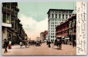 Oakland CA Shreve Gold, Silversmith~Santa Fe RR Office, Pierce~Trolley 1907 UDB