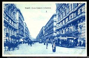 Italy Napoli Naples Corso Umberto I Trolley Tram Horse & Carriage