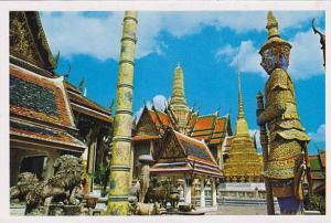 Thailand Bangkok Inside Of Emerald Budda Temple