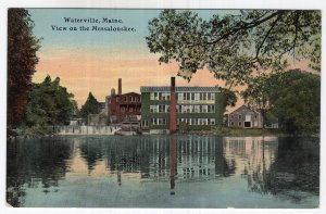 Waterville, Maine, View on the Messalonskee