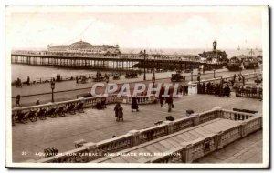 Great Britain Great Britain Postcard Old SAquarium Sun terrace and Palace Pie...
