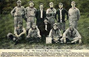 The Freeport High School Base Ball Team Baseball, Old Vintage Antique Postcar...