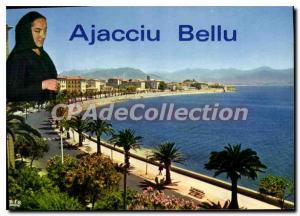 Modern Postcard Ajaccio Boulevard Lantivy With His Palms