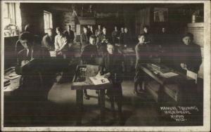 Ripon WI Manual Training High School Students Class c1910 Real Photo Postcard