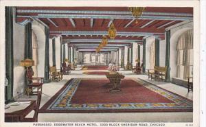 Illinois Chicago Edgewater Beach Hotel Passagio Curteich