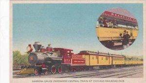 Illinois Chicago Narrow Gauge Deadwood Central Train At Chicago Railroad Fair