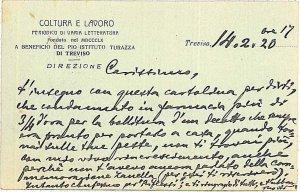 CARTOLINA d'Epoca - TREVISO Città: PUBBLICITARIA 1920