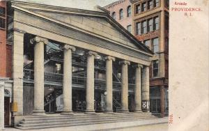 Providence Rhode Island~Arcade~Posters on Column~c1910 Postcard