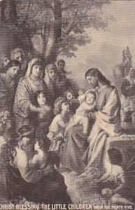 Christ blessing the little children, one of the thirty five, 10-20s