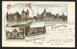 HUNGARY Multi Views of Budapest Used c1896