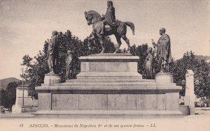 AJACCIO, Corse Du Sud, France, 1900-1910s; Monument De Napoleon 1er Et De Ses...