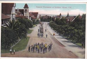 CALIFORNIA, 1900-1910´s; Funeral Procession, Soldiers´ Home