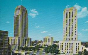 Misouri Kansas City Downtown Showing City Hall Jackson County Court House &am...