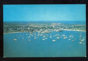 Nantucket, Massachusetts/Mass/MA Postcard, Aerial View Of Harbor, Cape Cod