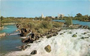 Idaho Falls, Idaho, ID, L.D.S. Temple, Hospital, & Nurses Home, Postcard a2649