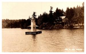 New Hampshire   Lake Sunapee, View of lake , Marker Bouy ,  RPC