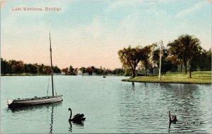 Lake Weeroona Bendigo Australia Postcard F92