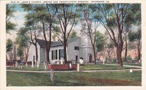 Virginia Richmond Old Saint John's Church