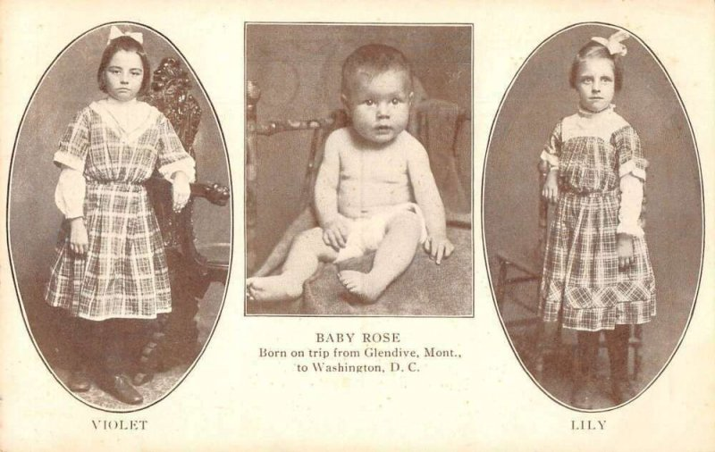 Chester Children Baby Rose Born on Trip Montana to Washington DC PC AA28977