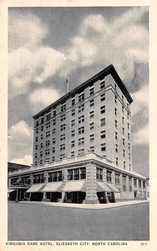 Elizabeth City Nc North Carolina Virginia Dare Hotel Pasquotank Co Postcard