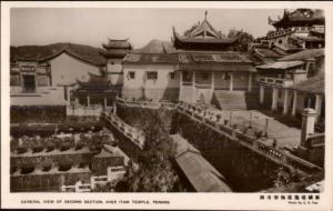 Penang Malaysia Ayar Item Temple c1920s Real Photo Postcard