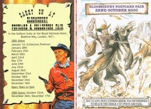 Cowboy Western 2x Fayre Exhibition Advertising Postcard s