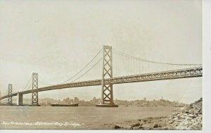 Postcard - CA - California San Francisco Oakland Bay Bridge RPPC Real Photo