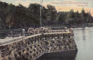 PEORIA, Illinois; Fort and Spanish Gun, Glen Oak Park, PU-1910