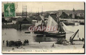 Old Postcard View On The Deauville Yacht Basin Truck