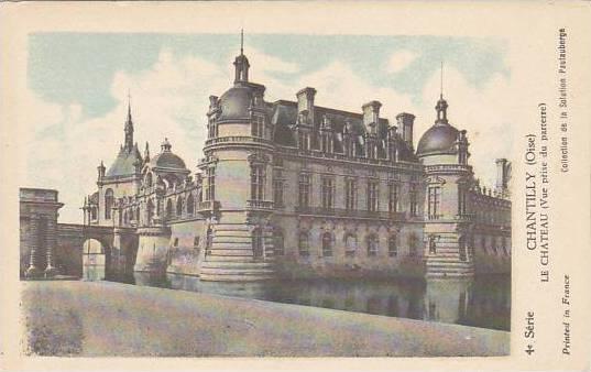 France Chantilly Le Chateau Vue prise du parterre