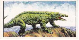 Trade Cards Geo. Bassett / Barratt AGE OF THE DINOSAURS No 23 Protosuchus