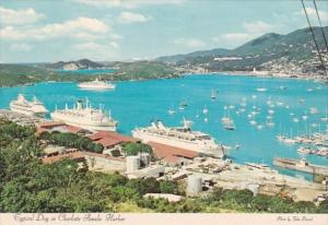 Cruise Ships In Charlotte Amalie Harbour St Thomas Virgin Islands